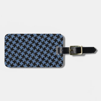 HOUNDSTOOTH2 BLACK MARBLE & BLUE DENIM LUGGAGE TAG