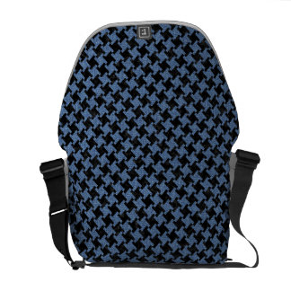 HOUNDSTOOTH2 BLACK MARBLE & BLUE DENIM MESSENGER BAG