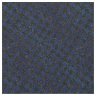 HOUNDSTOOTH2 BLACK MARBLE & BLUE GRUNGE FABRIC