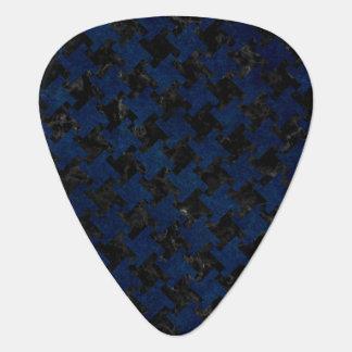 HOUNDSTOOTH2 BLACK MARBLE & BLUE GRUNGE GUITAR PICK