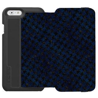 HOUNDSTOOTH2 BLACK MARBLE & BLUE GRUNGE INCIPIO WATSON™ iPhone 6 WALLET CASE