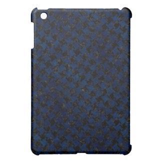 HOUNDSTOOTH2 BLACK MARBLE & BLUE GRUNGE iPad MINI CASES