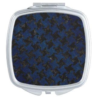 HOUNDSTOOTH2 BLACK MARBLE & BLUE GRUNGE VANITY MIRRORS