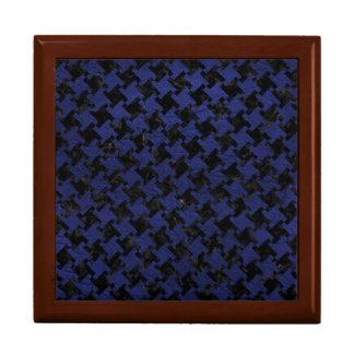 HOUNDSTOOTH2 BLACK MARBLE & BLUE LEATHER GIFT BOX