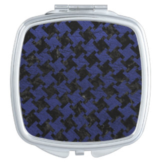 HOUNDSTOOTH2 BLACK MARBLE & BLUE LEATHER MIRRORS FOR MAKEUP
