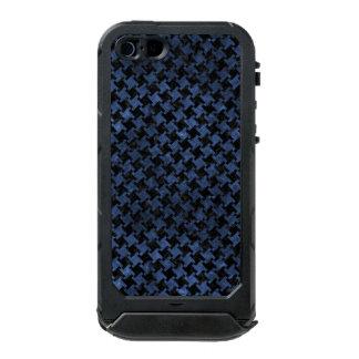 HOUNDSTOOTH2 BLACK MARBLE & BLUE STONE INCIPIO ATLAS ID™ iPhone 5 CASE