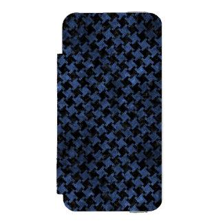 HOUNDSTOOTH2 BLACK MARBLE & BLUE STONE INCIPIO WATSON™ iPhone 5 WALLET CASE