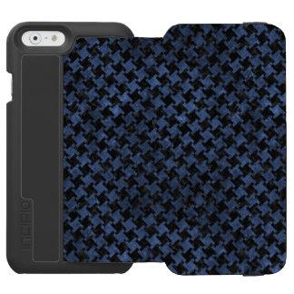 HOUNDSTOOTH2 BLACK MARBLE & BLUE STONE INCIPIO WATSON™ iPhone 6 WALLET CASE