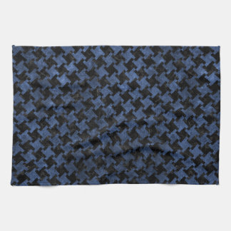 HOUNDSTOOTH2 BLACK MARBLE & BLUE STONE TEA TOWEL