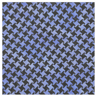 HOUNDSTOOTH2 BLACK MARBLE & BLUE WATERCOLOR FABRIC