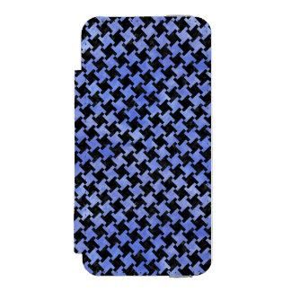 HOUNDSTOOTH2 BLACK MARBLE & BLUE WATERCOLOR INCIPIO WATSON™ iPhone 5 WALLET CASE