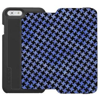 HOUNDSTOOTH2 BLACK MARBLE & BLUE WATERCOLOR INCIPIO WATSON™ iPhone 6 WALLET CASE