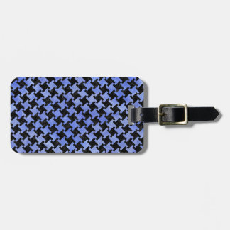 HOUNDSTOOTH2 BLACK MARBLE & BLUE WATERCOLOR LUGGAGE TAG