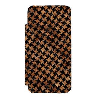 HOUNDSTOOTH2 BLACK MARBLE & BROWN STONE INCIPIO WATSON™ iPhone 5 WALLET CASE