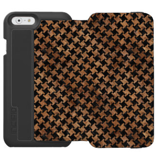 HOUNDSTOOTH2 BLACK MARBLE & BROWN STONE INCIPIO WATSON™ iPhone 6 WALLET CASE