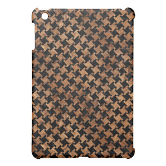 HOUNDSTOOTH2 BLACK MARBLE & BROWN STONE iPad MINI COVER
