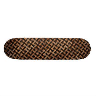 HOUNDSTOOTH2 BLACK MARBLE & BROWN STONE SKATE BOARD