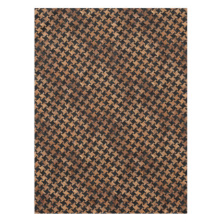 HOUNDSTOOTH2 BLACK MARBLE & BROWN STONE TABLECLOTH