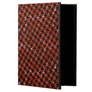 HOUNDSTOOTH2 BLACK MARBLE & RED MARBLE POWIS iPad AIR 2 CASE