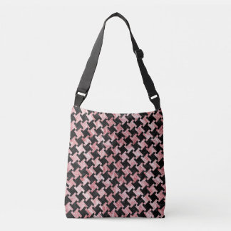 HOUNDSTOOTH2 BLACK MARBLE & RED & WHITE MARBLE CROSSBODY BAG