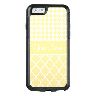 Houndstooth and Quatrefoil Yellow and White OtterBox iPhone 6/6s Case