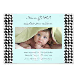 Houndstooth Birth Announcements