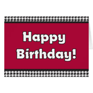 Houndstooth Birthday Card