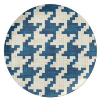 Houndstooth Blues Plate