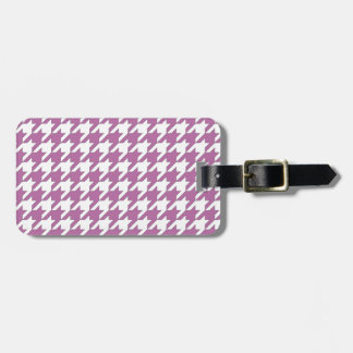 houndstooth bodacious and white luggage tag