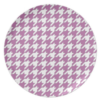 houndstooth bodacious and white plate