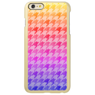 Houndstooth Bright Pink Lavender Ombre
