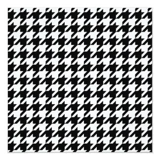 Houndstooth check pattern card