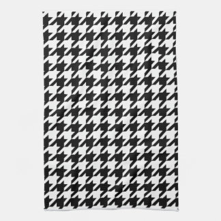 houndstooth check pattern tea towel