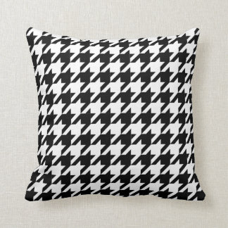 Houndstooth check pattern throw pillow