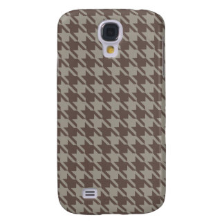 Houndstooth Checks Pattern in Grey Browns Samsung Galaxy S4 Cover