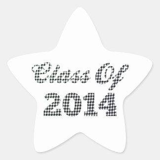 Houndstooth Class Of 2014 Star Sticker