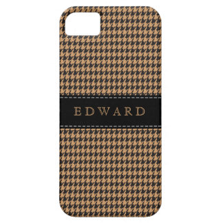 Houndstooth Classic Personalize Case Brown | Black
