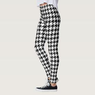 Houndstooth classic weaving pattern leggings