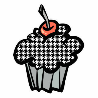 houndstooth cupcake photo cut out