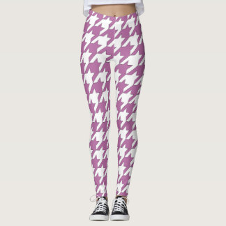 Houndstooth design in bodacious and white leggings