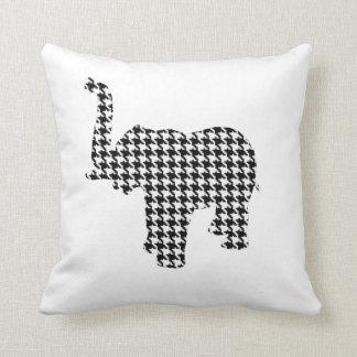 Houndstooth Elephant Cushion