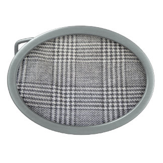 Houndstooth fabric belt buckles