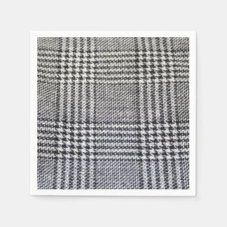 Houndstooth fabric paper napkin