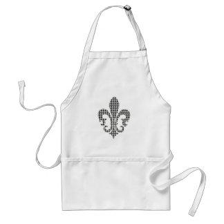 houndstooth fleur de lis standard apron