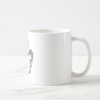 houndstooth fleur de lis classic white coffee mug