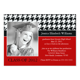 Houndstooth Graduation Card