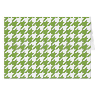 houndstooth greenery and white card