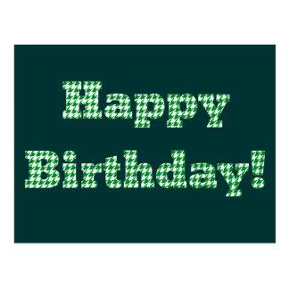 Houndstooth Happy Birthday Postcard