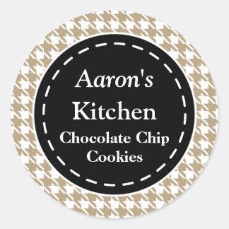 Houndstooth Kitchen Stickers