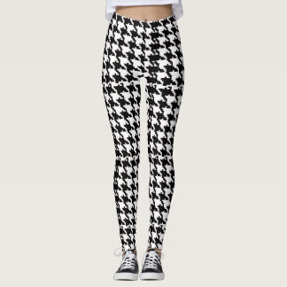 Houndstooth leggings in Patchwork Pattern